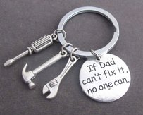 If Dad Can't Fix It No One Can Hand Tools Keychain,daddy Keyring,gift