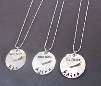 Sisters Necklace Set, Little Sister, Middle Sister,big Sister Necklace