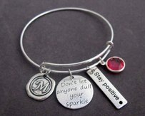Don't Let Anyone Dull Yoursparkle Bangle Bracelet Staypositive Jewelry