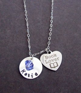 Personalized Book Lover Necklace Gifts For Readers Librarians Gifts