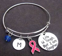 Fashion Jewelry For Everyone Silver Breast Cancer Awareness Bangle Bracelet Breast Cancer Survivor Other