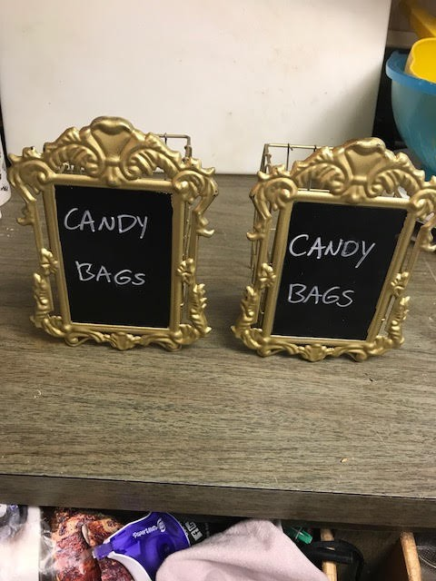 (#2) Gold Cage Napkin Holders With Erasable Chalkboard Front