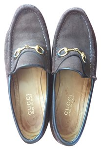 Gucci Loafers Suede Brown Flats