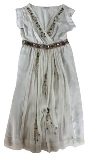Philosophy di Alberta Ferretti short dress Gray Cinderella Silk Embellished on Tradesy