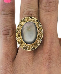 Antique,Victorian,18k,Yellow,Gold,Moonstone,Ring,12.5,Grams,Size,7.25,