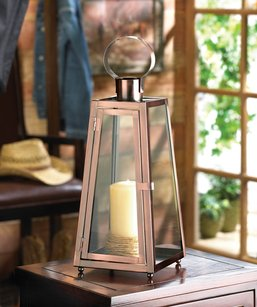 10 Bronze Copper Metal Lanterns Brown Metal Rustic