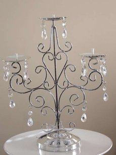 10 Silver Candelabras Crystal Chandelier Candle Holder