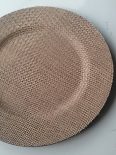 100 Burlap Charger Plates Chargers
