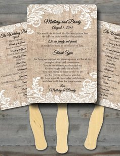 100 Custom Rustic Wedding Fan Programs /wedding Fan Program/fan Wedding Program/wedding Program Fan/program Fans/ Fan