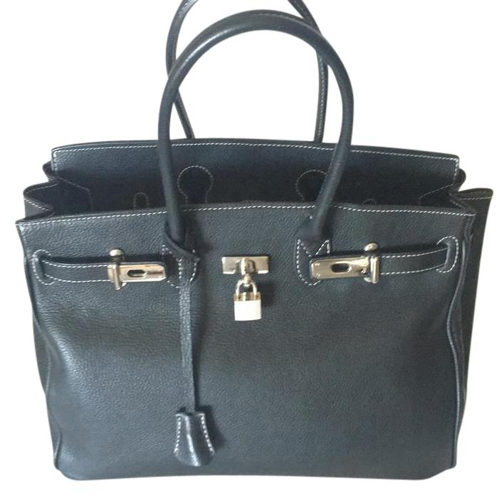 100 Percent Made in Italy Birkin Style Tote