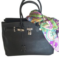 100 Percent Made in Italy Satchel in Black