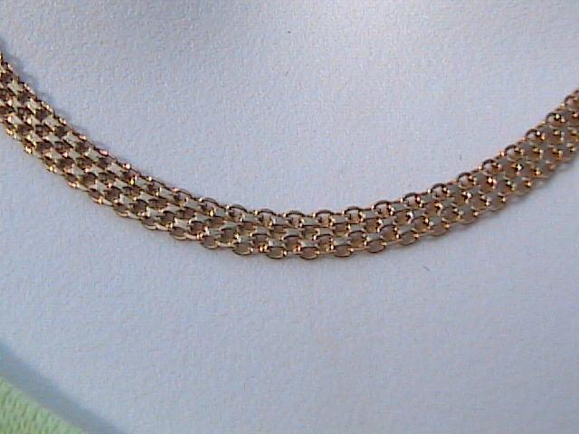 10k Yellow Gold Mexican Mesh Necklace Bracelet Tradesy