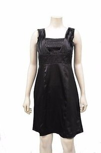 110 West Black Satin Sequin Dress