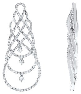 1.72ct 1.72CT White Gold and Diamond Drop Earrings