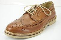 Nordstrom 1901 Kyle Longwing Wingtip Brown Perforated Oxfords Sz 95