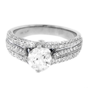 18k White Gold 1.90ct Diamond Antique Style Engagement Ring