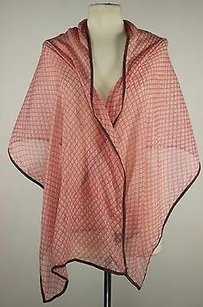 2 Chic Chic Womens Pink Printed Scarf One 68 X 100 Cotton