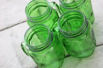 24 Green Mason Jar Mugs Glasses Tumblers