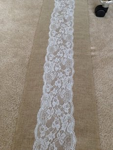 24 Handmade Burlap And Lace Table Runners