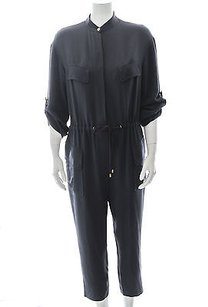3.1 Phillip Lim Navy Dark Silk Drawstring Tapered Trouser Pant Dress