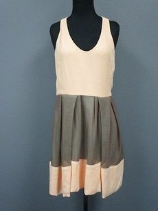 3.1 Phillip Lim short dress peach, brown Peach Scoop on Tradesy