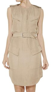 3.1 Phillip Lim short dress Beige Twill Linen Khaki on Tradesy