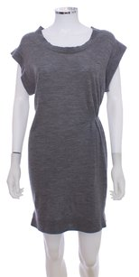 3.1 Phillip Lim short dress Grey Wool Knit Pleated on Tradesy