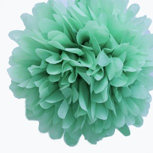 36 Mint Green Tissue Pom Pom Flower Balls Kissing Balls Seafoam 14