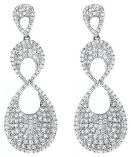 3.91ct 3.91ct White Gold and Diamond Dangle Earrings