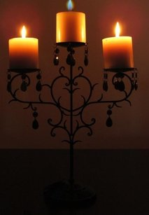 4 Black Candelabra Pillar Candle Holder Candleholders