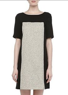 4.collective short dress Multi-Color Collective Black Ivory on Tradesy