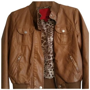 5/48 Camel Brown/Beige/Camel Leather Jacket