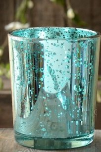 60 Aqua Turquoise Blue Mercury Glass Votives Candle Holders