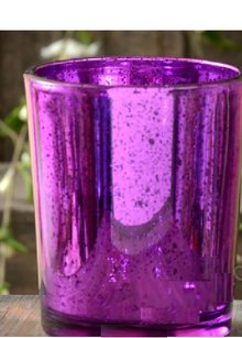 60 Purple Mercury Glass Votives Votive Candle Holders New Free Shipping