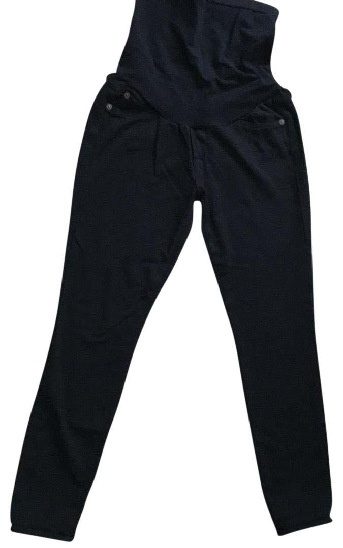 7 For All Mankind Black Maternity Jeans