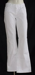 7 For All Mankind White Cotton Boot Cut Jeans