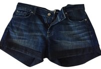 7 For All Mankind Denim Denim Jean Mini/Short Shorts Dark Wash