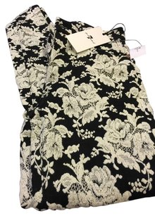 7 for All Mankind Skinny Pants Black and White Brocade