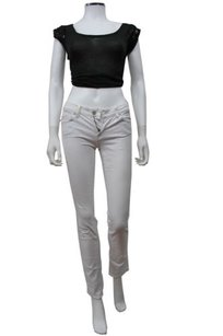 7 For All Mankind Seven Roxanne White Skinny Jeans