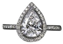 9.2.5 Gorgeous cushion diamond quality halo engagement ring size 9.