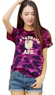 A Bathing Ape T Shirt Purple
