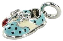 Aaron Basha Aaron Basha Lb550a Baby Saddle Shoe Blue Ladybug Diamond 18k