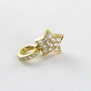 Aaron Basha Aaron Basha Stc500y Charm Pave Star 0.28cts Diamonds 18k Yellow Gold