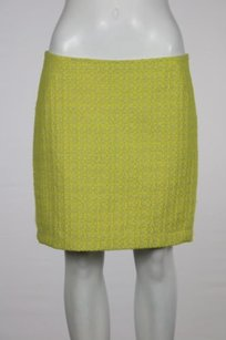A.B.S. by Allen Schwartz Abs Platinum Womens Gray Straight Above Knee Tweed Career Skirt Yellow
