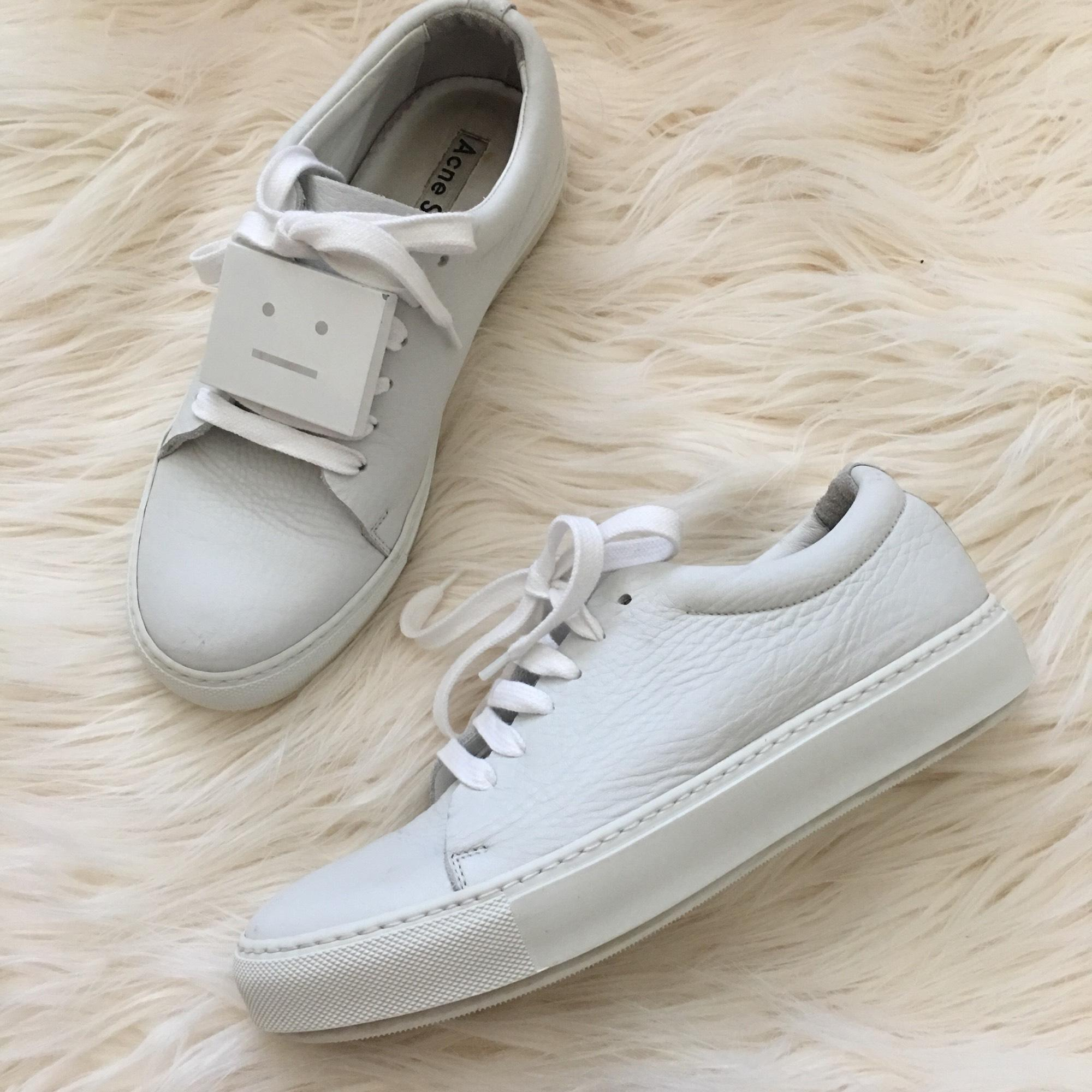Newest Cheap Online Acne Adriana Grained Leather Trainers Cheap Sale New Arrival Outlet Locations Sale Online Discount Finishline Sale Perfect 5Zl3K26by