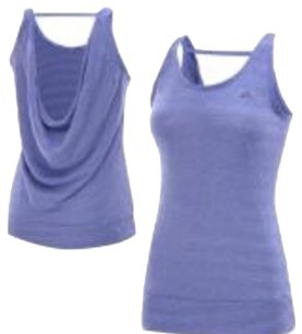 adidas Adidas Purple Heathered Fitness Tank In XS