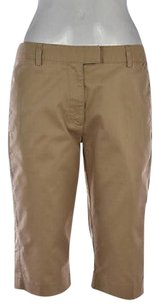 adidas Womens Cropped Trousers Pants Bermuda Shorts Beige