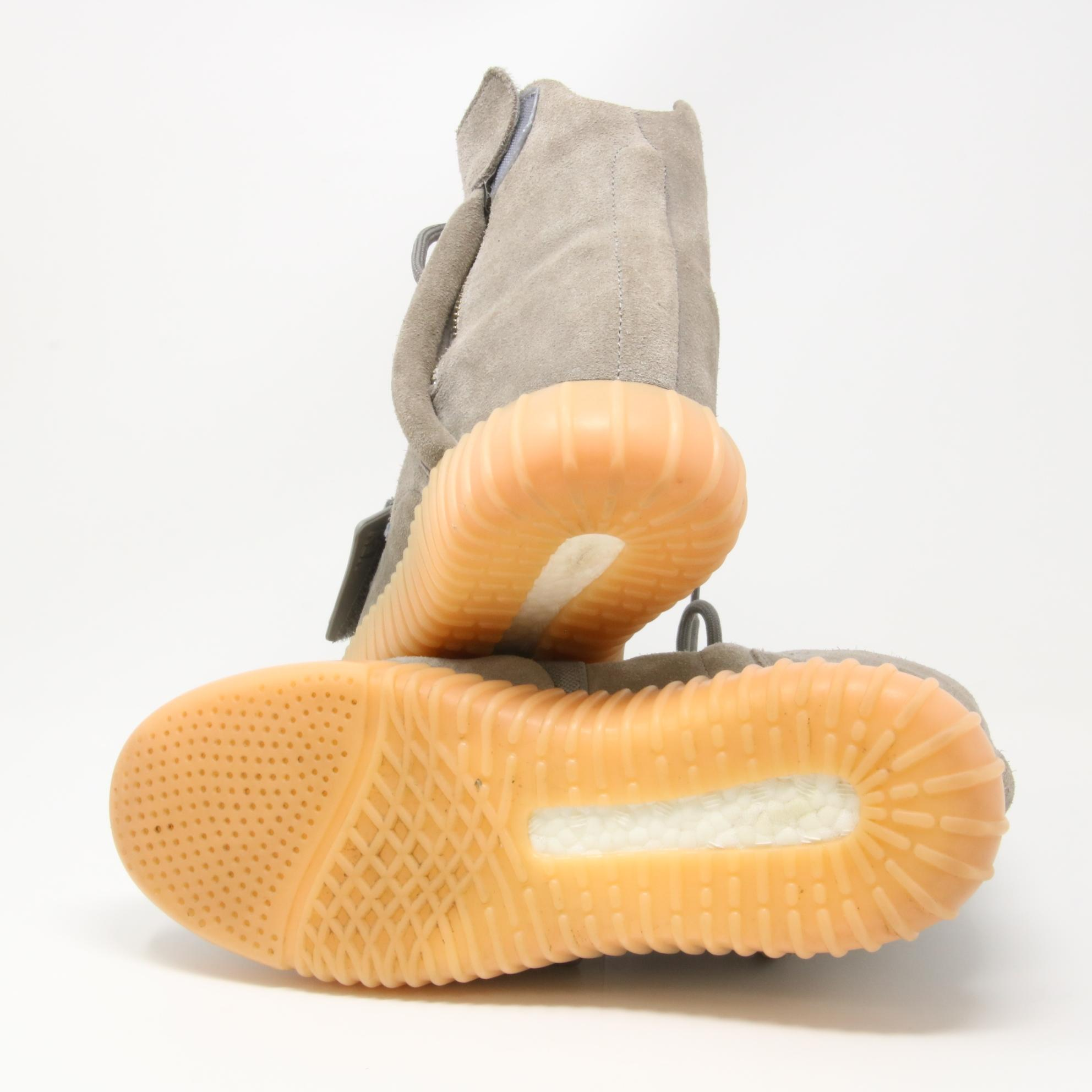 3125eabc42496 ... adidas X Yeezy Grey Gum Boost 750 Light Glow In The The The Dark Suede  ...