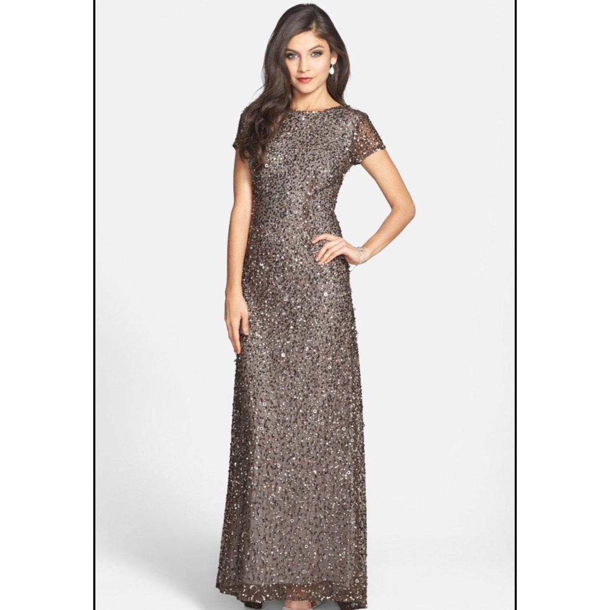 Adrianna Papell Lead Scoop Back Sequin Gown 09187460 Dress on Tradesy