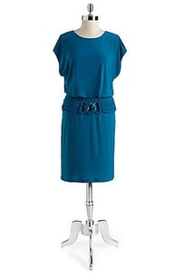 Adrianna Papell Size 14 Blue Turquiose Dress